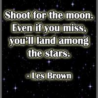 Printable Shoot for the Moon - Printable Motivational Quotes - Free Printable Quotes