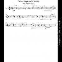 Printable Silent Night - Printable Flute Music - Free Printable Music