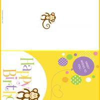 Printable Silly Monkey Birthday Cards - Printable Birthday Cards - Free Printable Cards
