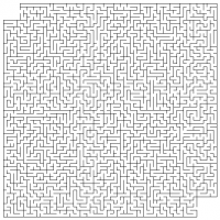 Simple Big Printable Maze