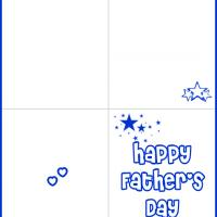 Printable Simple Blue Father's Day Card - Printable Fathers Day Cards - Free Printable Cards
