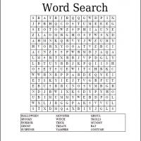 Simple Halloween Word Search