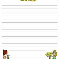 Printable Simple Luau Writing Paper - Printable Stationary - Free Printable Activities
