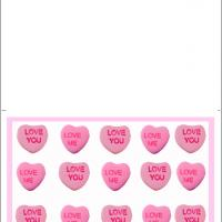 Printable Simple Pink Heart Luv U - Printable Valentines - Free Printable Cards