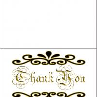 Printable Simple Thank You Card With Graphics - Printable Thank You Cards - Free Printable Cards