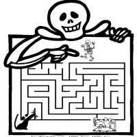 Printable Skeleton Maze - Printable Mazes - Free Printable Games