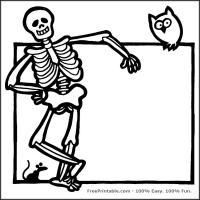 Printable Skeleton Stencil - Printable Stencils - Free Printable Crafts