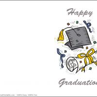 Printable Sketch Of Graduation Elements - Printable Graduation Cards - Free Printable Cards