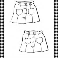 Pair of Skirts Flash Card