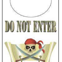 Pirate Skull Door Knob Hanger
