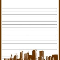 Printable Skyline Stationary - Printable Stationary - Free Printable Activities