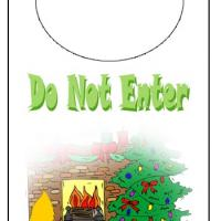 Printable Holiday Sleeping Kitty Door Knob - Printable Fun - Free Printable Activities