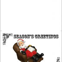Printable Sleeping Santa Card - Printable Christmas Cards - Free Printable Cards