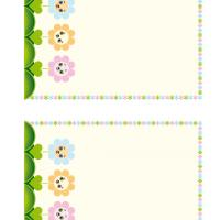 Printable Smiling Flowers Stationary - Printable Stationary - Free Printable Activities