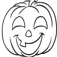 Smiling jack o lantern for Jackolantern coloring pages