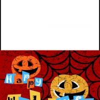 Printable Smiling Pumpkins Card - Printable Greeting Cards - Free Printable Cards