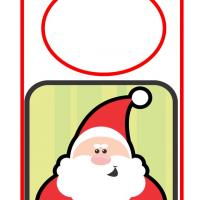 Printable Smiling Santa Door Hanger - Printable Fun - Free Printable Activities