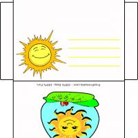 Printable Smiling Sun Envelope - Printable Card Maker - Free Printable Cards