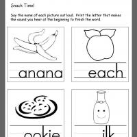 Snacks Beginning Consonants Review