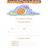 Snail Graduation Party Invitation