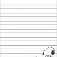 Printable Snoopy and Woodstock Stationary - Printable Stationary - Free Printable Activities