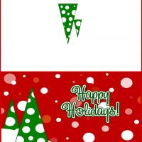 Printable Snow Dots Christmas Card - Printable Christmas Cards - Free Printable Cards