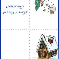 Printable Snow House Card - Printable Christmas Cards - Free Printable Cards