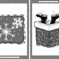 Snowflakes and Chimney Flash Cards
