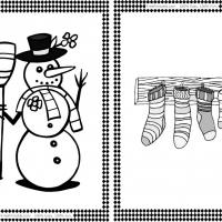 Snowman and Stockings Flash Cards
