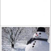 Printable Snowman Card - Printable Christmas Cards - Free Printable Cards