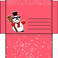 Snowman Envelope