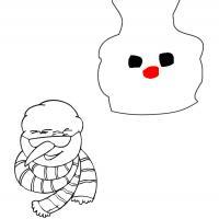 Snowman Face Template