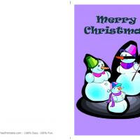 Printable Snowman Family - Printable Christmas Cards - Free Printable Cards