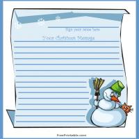 Snowman Guest Book