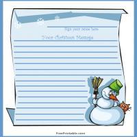 Snowman Guest Book