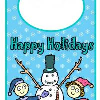 Printable Snowman Holiday Door Hanger - Printable Fun - Free Printable Activities