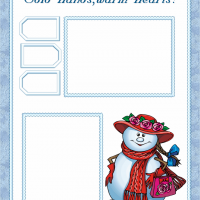 Printable Snowman Scrapbook Cover - Printable Scrapbook - Free Printable Crafts
