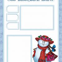 Snowman Scrapbook Cover