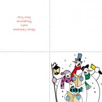 Printable Snowmen Singing - Printable Christmas Cards - Free Printable Cards