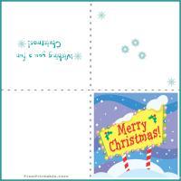 Printable Snowy Christmas Card - Printable Christmas Cards - Free Printable Cards