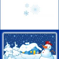 Printable Snowy Christmas Night - Printable Christmas Cards - Free Printable Cards