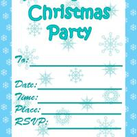 Printable Snowy Christmas Party Invitation - Printable Party Invitation Cards - Free Printable Invitations