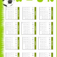 Printable Soccer 2013 Calendar - Printable Yearly Calendar - Free Printable Calendars