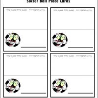 Soccer Ball Place Card
