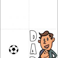 Printable Soccer Dad - Printable Fathers Day Cards - Free Printable Cards