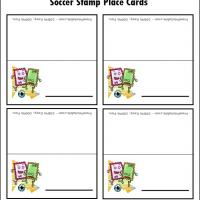 Soccer Stamp Place Cards