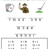Printable Solve the Cards, Scouts and Golf Riddle - Printable Kids Worksheets - Free Printable Worksheets