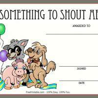 Printable Something To Shout About Award - Printable Awards - Misc Printables