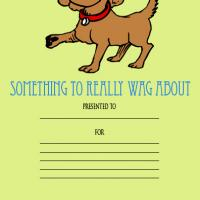 Printable Something To Wag About Award - Printable Awards - Misc Printables