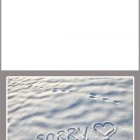 Sorry in the Sand Card